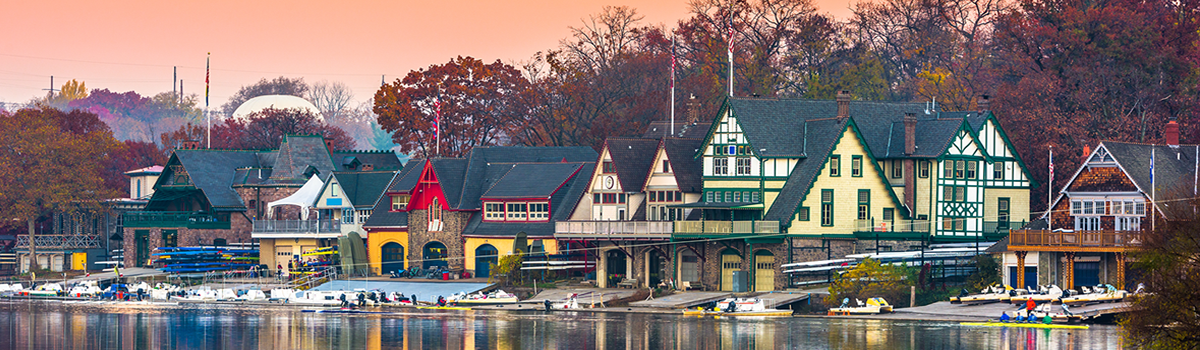 Boathouse Row sunset